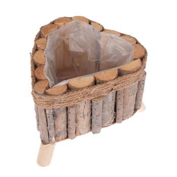 Cutie din lemn cu picioare Dakls, formă inimă bonami.ro