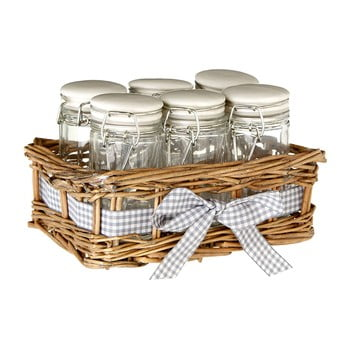 Set 6 recipiente pentru condimente Premier Housewares Country Cottage, 16 x 10 cm bonami.ro