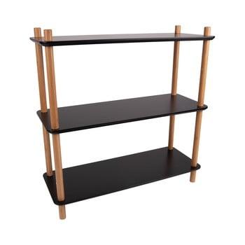 Etajeră cu picioare din bambus Leitmotiv Cabinet Simplicity, 80 x 82.5 cm, negru bonami.ro