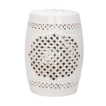 Măsuță din ceramică adecvată pentru exterior Safavieh Marbella, ø33cm, crem imagine