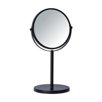 Oglindă cosmetică Wenko Assisi, ⌀17cm, negru bonami.ro