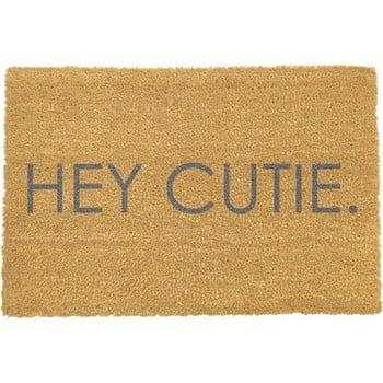 Covoraș intrare Artsy Doormats Hey Cutie, 40 x 60 cm, gri poza bonami.ro
