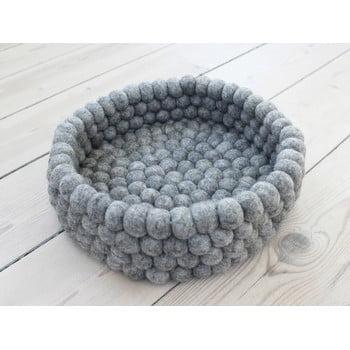 Coș depozitare cu bile din lână Wooldot Ball Basket, ø 28 cm, gri oțel bonami.ro
