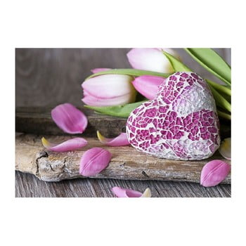 Covoraș din vinilin Purple Love, 52x75 cm bonami.ro