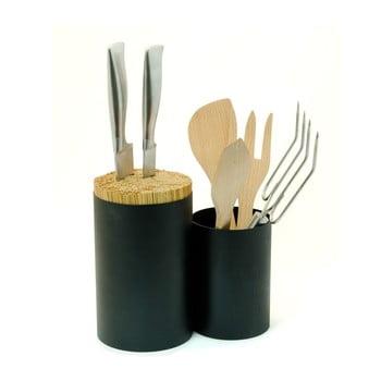 Suport pentru cuțite și ustensile de bucătărie Wireworks Knife&Spoon, negru poza bonami.ro
