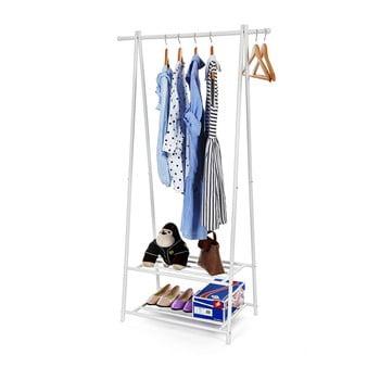 Suport din metal cu 2 rafturi pentru hainele Songmics, alb poza bonami.ro
