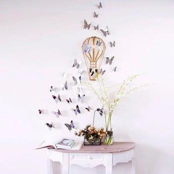 Set 12 autocolante cu efect 3D Ambiance Mirror Butterflies poza bonami.ro