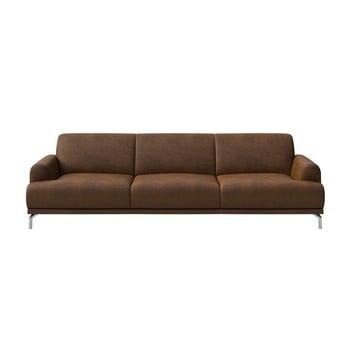 Canapea cu 3 locuri MESONICA Puzo, maro bonami.ro