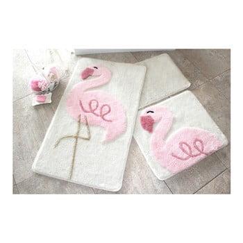 Set 3 covorase de baie Confetti Bathmats Flamingo