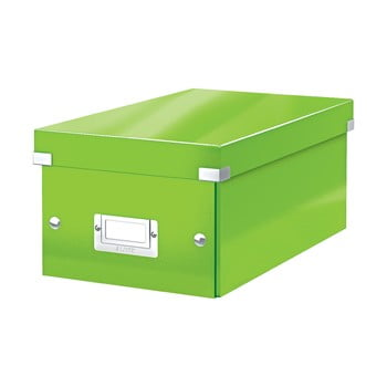 Cutie depozitare cu capac Leitz DVD Disc, lungime 35 cm, verde bonami.ro