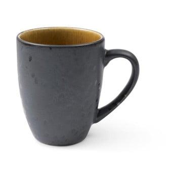 Cană cu toartă din ceramică și glazură interioară ocru Bitz Mensa, 300 ml, negru bonami.ro
