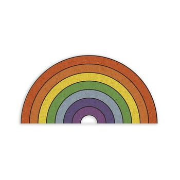 Avizier în formă de curcubeu Really Nice Things Rainbow, 70 x 50 cm bonami.ro