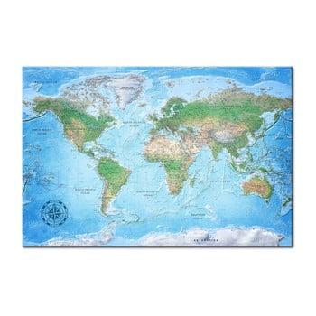 Hartă decorativă a lumii Bimago Traditional Cartography 90 x 60 cm poza bonami.ro