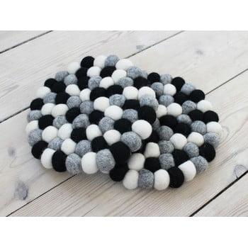 Suport pahar, cu bile din lână Wooldot Ball Coaster, ⌀ 20 cm, alb - negru bonami.ro