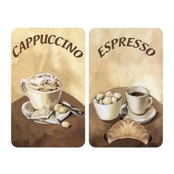 Protecție din sticlă pentru aragaz Wenko Coffee, 2 buc. poza bonami.ro