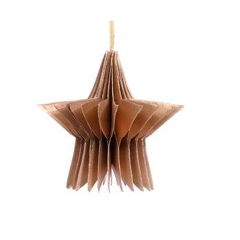 Decorațiune din hârtie pentru Crăciun, formă stea Only Natural, lungime 7,5 cm, auriu bonami.ro