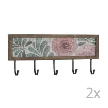 Set 2 cuiere pentru perete cu 5 cârlige Geese Rose imagine