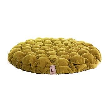 Pernă relaxare cu bile de masaj Linda Vrňáková Bloom, ø 75 cm, galben imagine