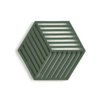 Suport din silicon pentru vase fierbinți Zone Hexagon, verde închis poza bonami.ro