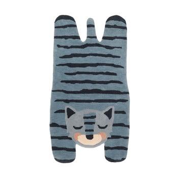 Covor din in pentru copii Nattiot Blue Tigger,65x125cm imagine