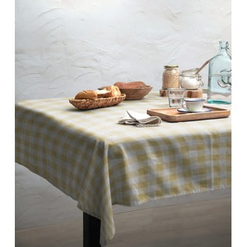 Față de masă Linen Couture Yellow Vichy, 140 x 140 cm bonami.ro