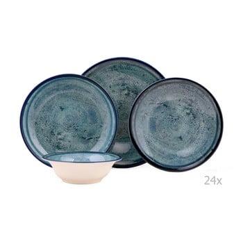 Set veselă 24 piese din porțelan Kutahya Mulio, albastru imagine