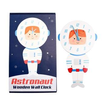 Ceas de perete din lemn pentru copii Rex London Astronaut bonami.ro