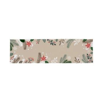 Traversă din bumbac cu motiv de Crăciun Butter Kings Frosted Branches, 140 x 40 cm bonami.ro