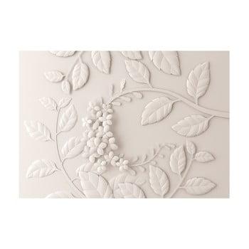 Tapet format mare Bimago Cream Paper Flowers, 400 x 280 cm imagine
