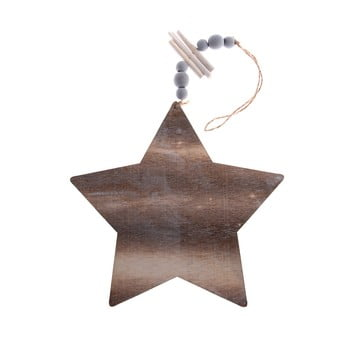 Decorațiune suspendată din lemn Dakls, lungime 22,5 cm, stea poza bonami.ro