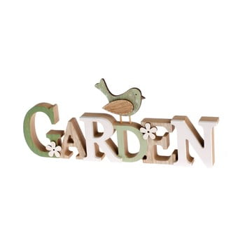 Semn decorativ din lemn Dakls Garden poza bonami.ro