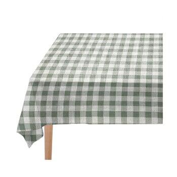 Față de masă Linen Couture Lino Green Vichy, 140 x 200 cm bonami.ro