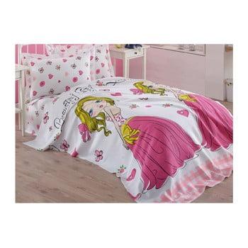 Cuvertură din bumbac pentru copii Princess, 160 x 235 cm, roz bonami.ro