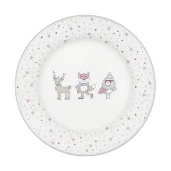 Farfurie din gresie ceramică Green Gate Kids, alb - roz poza bonami.ro