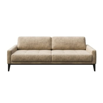 Canapea cu 3 locuri MESONICA Musso Tufted, bej poza bonami.ro