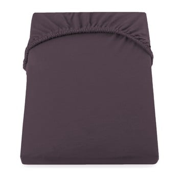 Cearșaf de pat cu elastic DecoKing Nephrite, 180–200 cm, maro poza bonami.ro