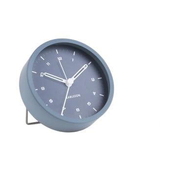 Ceas cu alarmă Karlsson Tinge, ø 9cm, albastru bonami.ro