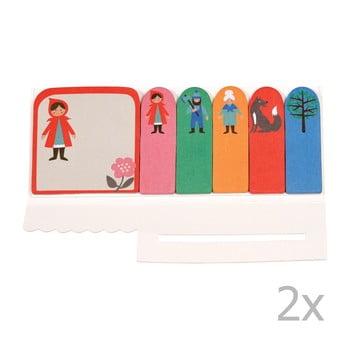 Set 2 etichete adezive Rex London Red Riding Hood poza bonami.ro
