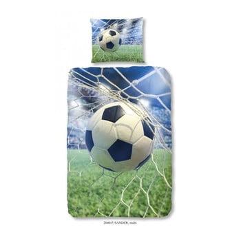 Lenjerie de pat din bumbac pentru copii Good Morning Football Game, 140x200 cm bonami.ro
