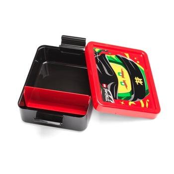 Cutie pentru gustare cu capac roşu LEGO® Iconic, negru poza bonami.ro