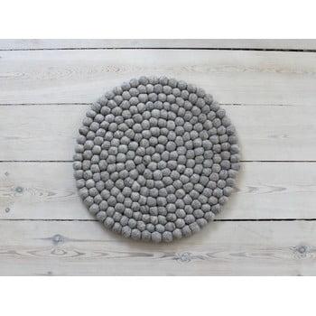 Pernă pentru scaun cu bile din lână Wooldot Ball Chair Pad, ⌀ 39 cm, maro nisip poza bonami.ro