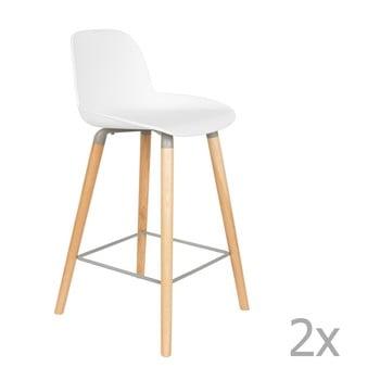 Set 2 scaune bar Zuiver Albert Kuip, înălțime scaun 65cm, alb imagine