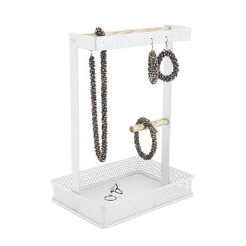 Suport pentru bijuterii cu detalii din lemn PT LIVING Merge Square, alb poza bonami.ro