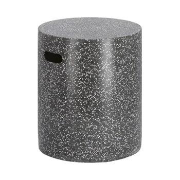 Masă auxiliară din beton La Forma Jenell, ⌀ 35 cm, negru poza bonami.ro