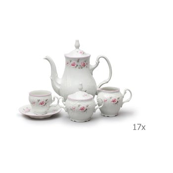 Set din porțelan pentru cafea, model trandafiri Thun Bernadotte imagine