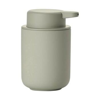 Dispensor din ceramică pentru săpun Zone Eucalyptus, 250 ml, gri verde poza bonami.ro
