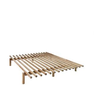 Cadru pat din lemn de pin Karup Design Pace Natural, 140 x 200 cm