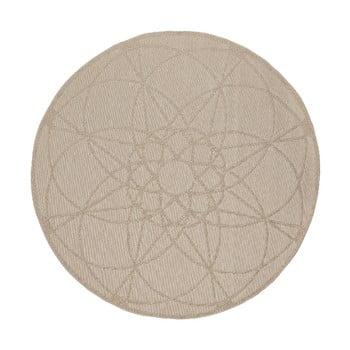 Covor rezistent adecvat pentru exterior Floorita Tondo Ecru, ⌀ 194 cm, bej imagine