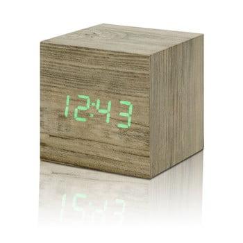 Ceas deșteptător cu LED Gingko Cube Click Clock, maro - verde bonami.ro