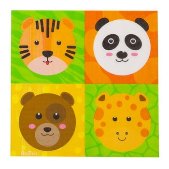 Set 16 șervețele din hârtie GiviItalia Zoo Party, 33 x 33 cm poza bonami.ro